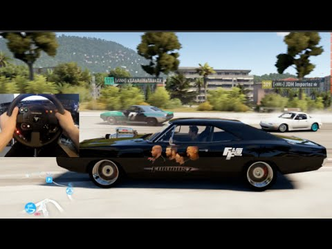 FH2 GoPro Doms 1970 Dodge Charger 900hp Drift Build Online #furious7