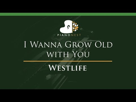 Westlife - I Wanna Grow Old with You - LOWER Key (Piano Karaoke / Sing Along)