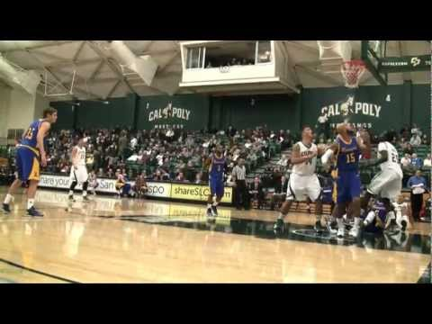 Cal Poly Men's Basketball versus UC Riverside Highlights (March 7, 2013)