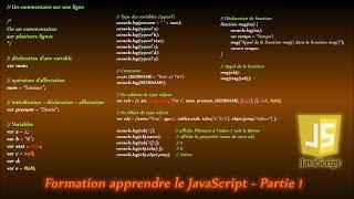 Formation Apprendre Le JavaScript - Partie 1/11