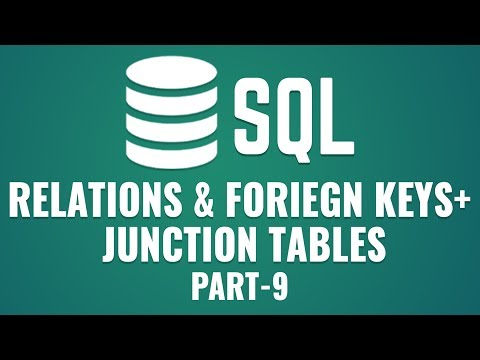 Learn Relations \u0026 Foreign Keys in MySQL | Junction Tables in MySQL | Part 9