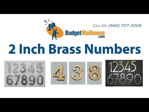 Budget Mailboxes | Quality Imports 2 Inch Brass Numbers