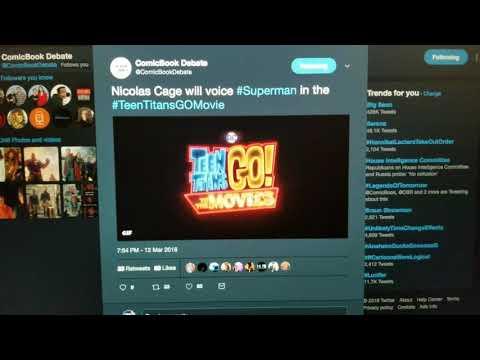 Nicolas Cage Will Voice Superman in the Teen Titans Go Movie