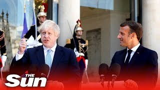 Video Boris Johnson & Emmanuel Macron issue joint statement MP3, 3GP, MP4, WEBM, AVI, FLV Agustus 2019