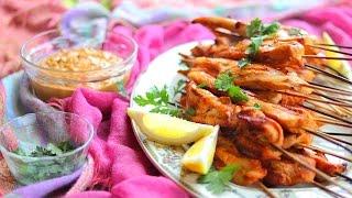 Como fazer frango satay