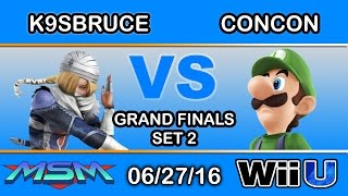 One of the most raw emotions you'll see in smash: MSM 56 GF – K9sbruce (Sheik) vs Mr. ConCon (Luigi)