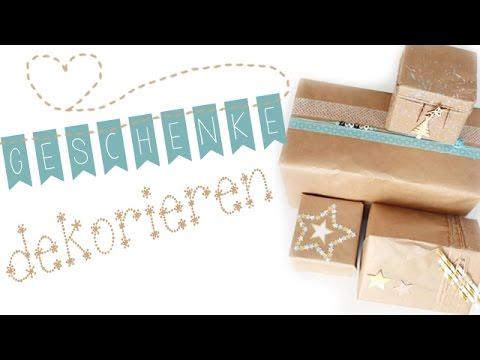 Geschenkverpackung dekorieren // erst Packpapier und dann kreativ...// *Handmadebyanni