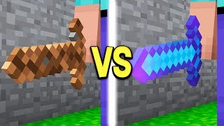 Video DIRT SWORD vs DIAMOND SWORD IN MINECRAFT! MP3, 3GP, MP4, WEBM, AVI, FLV Oktober 2018