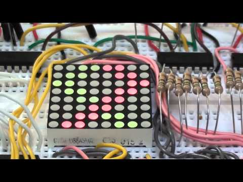 Experiments 5.3: 8x8 LED Dot Matrix Display Tutorial (Red/Green Common Anode) using the Arduino