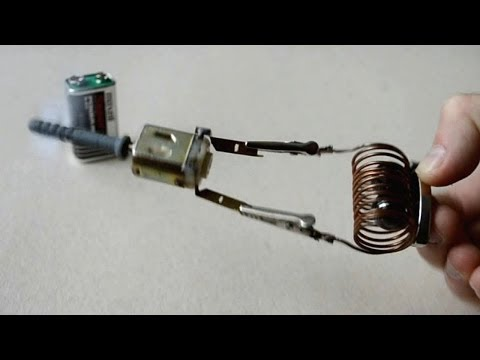 Free energy generator tested on Magnetic Mini Motor (DC 9V) - даровая Бесконечная энергия