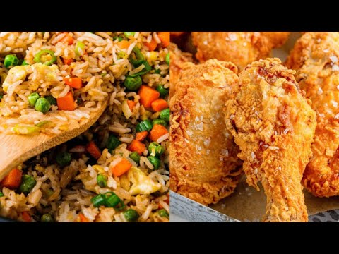 Mouthwatering Fried Chicken & Fried Rice Testy & Yummy
