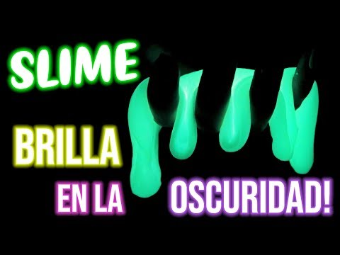 SLIME Que BRILLA En La OSCURIDAD!, GLOW IN THE DARK SLIME!