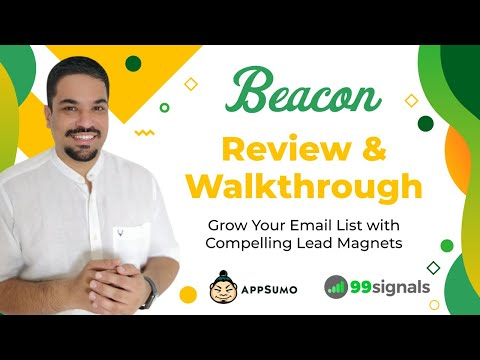 Watch 'Beacon Review and Walkthrough: Grow Your Email List with Lead Magnets [AppSumo Lifetime Deal] - YouTube'