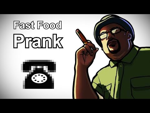 Big Smoke Calls McDonalds - Grand Theft Auto Prank Call