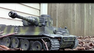 1/16 RC Tank German Tank Metal Tracks RTR Review And Running Video