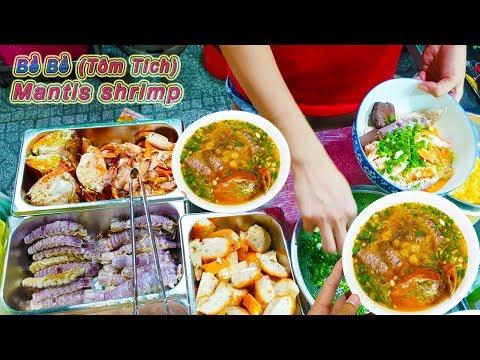Bánh Canh Cua Tôm Tích (Bề Bề) khách đông nghẹt trên vỉa hè Sài Gòn (Mantis shrimp) - Thời lượng: 17:27.