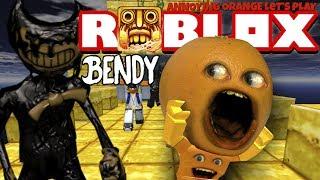 Annoying Orange Plays - ROBLOX: Temple Run 2 - Attack of Bendy!