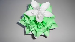Цветы из бумаги своими руками кусудама. Как из цветов оригами собрать шар кусудаму.