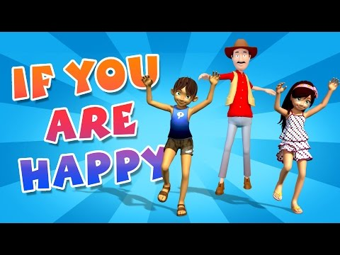 If You Are Happy and You Know It || 3D Animation || Nursery Rhyme Song