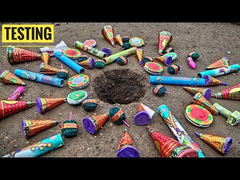50 Crackers inside a big hole || Testing Crackers || Crackers Testing || Patakhe || Pataka || Diwali