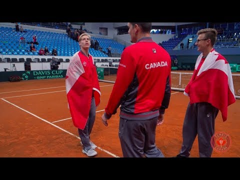 Hear from an ecstatic (and voiceless!) Canadian fan contingent following Canada's amazing come-from-behind win over Slovakia on Davis Cup Saturday, ...