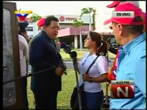 El tú a tú de Chávez y la periodista colombiana de RCN, Carmen Andrea Rengifo