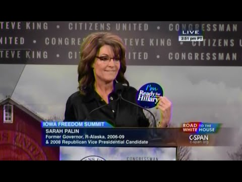 Palin - January 24th, 2015 • Governor Sarah Palin addresses the 2015 Iowa Freedom Summit in Des Moines. Appropriate comments will be welcomed Foul language, insults, and rants will not Fair Use...