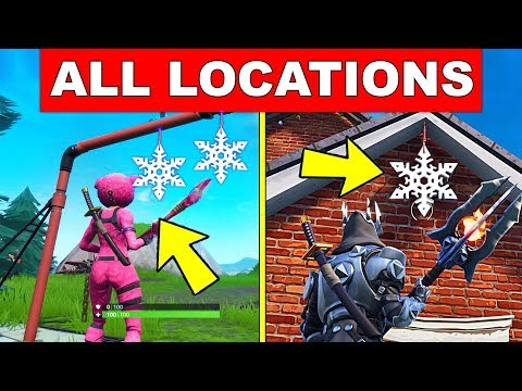 Destroy Snowflake Decorations – ALL LOCATIONS (14 DAYS OF FORTNITE CHALLENGES DAY 12)