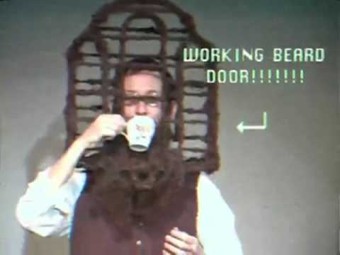 1991 National Beard and Moustache Competition. Guy shapes his beard into a birdcage... with a working door. Crowd goes insane.