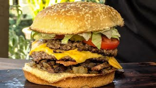 How To Make The Five Guys All-The-Way Bacon Cheeseburger! | Copycat by Ballistic BBQ