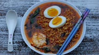কোরিয়ান স্পাইসি রমেন | Korean Spicy Ramen | Tasty Ramen Noodles Recipe | Ramen Soup Recipe