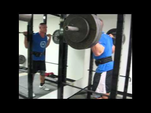 0 John Cena Squatting a Massive 545 Pounds Three Times!