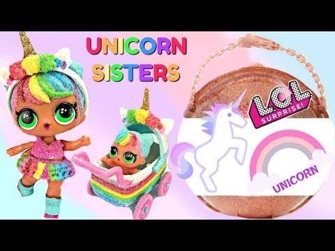 Finding LOL Big Surprise Glitter Custom Unicorn Lil' Sister and Stroller