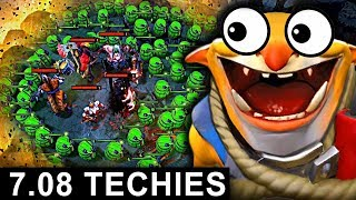 NEW TECHIES PATCH 7.08 DOTA 2 NEW META GAMEPLAY #17 (CARRY TECHIES)