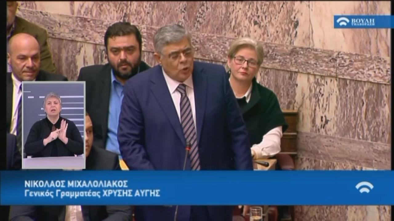 Ν.Μιχαλολιάκος(ΓΓ.ΧΑ)(Δανειοδότηση Κομμάτων και Εταιρειών Μ.Μ.Ε)(01/02/2017)