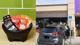 Man Saved By Hot Sauce in a Crash at Taco Bell