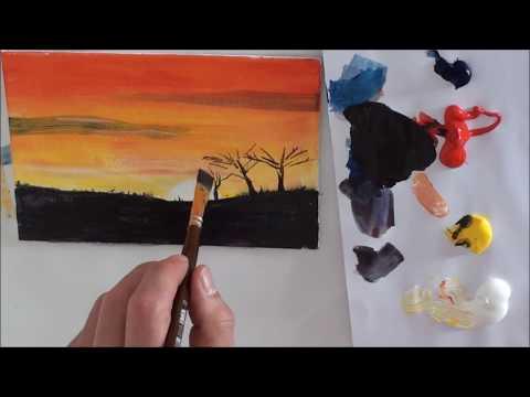 10-Minuten-Malerei: Afrika für Anfänger