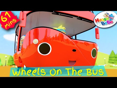 Wheels On The Bus | Plus Lots More Nursery Rhymes | By HuggyBoBo