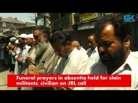 Funeral prayers in absentia held for slain militants, civilian on JRL call