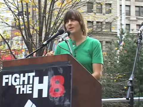 Daniela Sea at Prop 8 Protest City Hall NYC