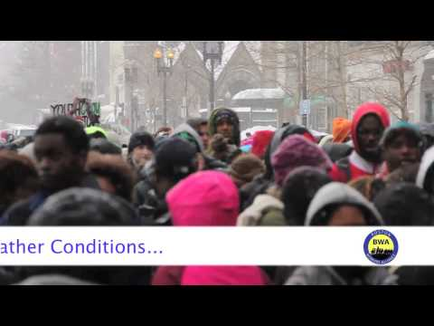 BOSTON YOUTH RALLY FOR JOBS IN BLIZZARD WEATHER CONDITION