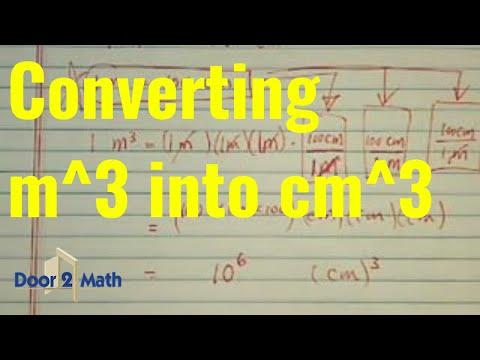 *unit conversion: 1m (cubed) = ?? cm (cubed)