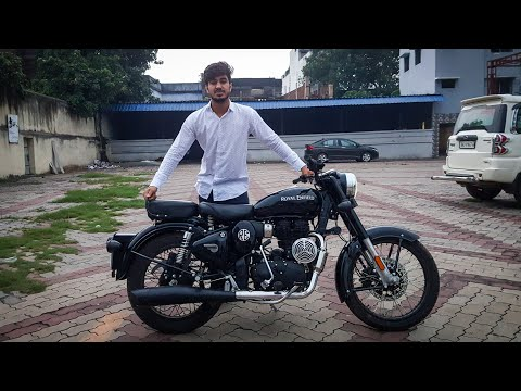 NEW BS6 ROYAL ENFIELD CLASSIC 350 PURE BLACK WITH SHARK EXHAUST   #MxK