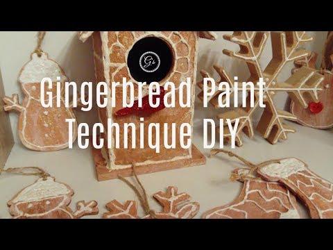 Gingerbread Paint Technique DIY