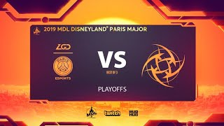 PSG.LGD vs NiP, MDL Disneyland® Paris Major, bo3, game 2 [Adekvat & Lost]