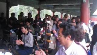 Traditional Chinese music at the Temple of Heaven, BeiJing 北京