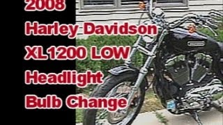 4. Headlight Bulb change on 2008 Harley Davidson Sportster XL 1200 Low