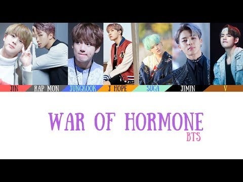 Video BTS(방탄소년단) - War of Hormone(호르몬 전쟁) Lyrics [Color Coded_Han_Rom_Eng] download in MP3, 3GP, MP4, WEBM, AVI, FLV January 2017