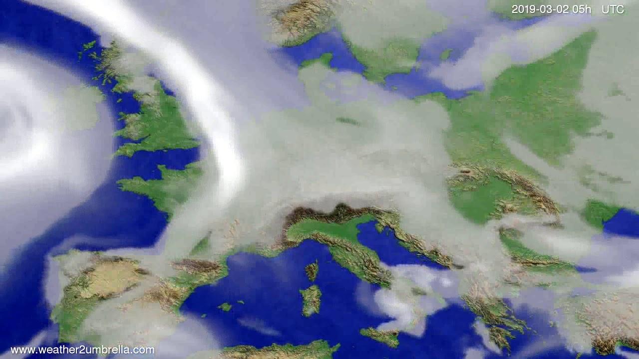 #Weather_Forecast// Cloud forecast Europe 2019-02-28