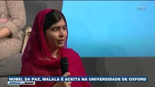 Há cinco anos, ela foi vítima de um atentado do Talibã por defender o direito de mulheres muçulmanas irem à escola no Paquistão.